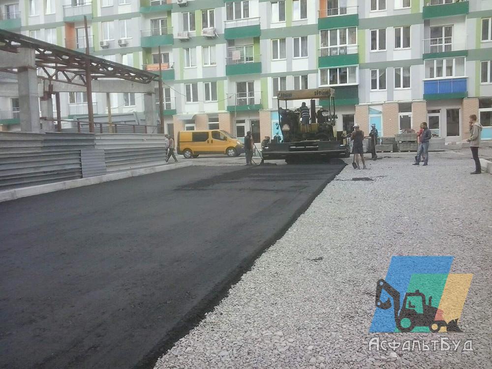 Строительство дорог на строительных площадках