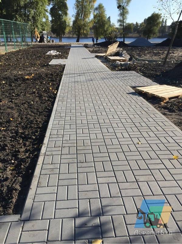 Укладка тротуарной плитки, укладка дорожной плитки